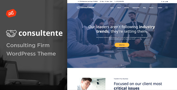 Consultente - Consulting Firm WordPress Theme            TFx Howie Noel