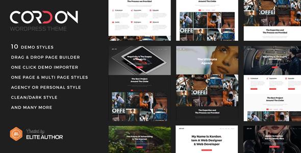 Cordon - Responsive One Page & Multi Page Portfolio Theme            TFx Paxton Jurou