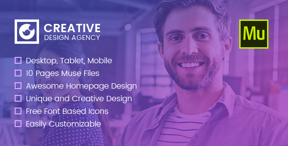 Creative Multi-purpose Muse Template            TFx Blair Farley