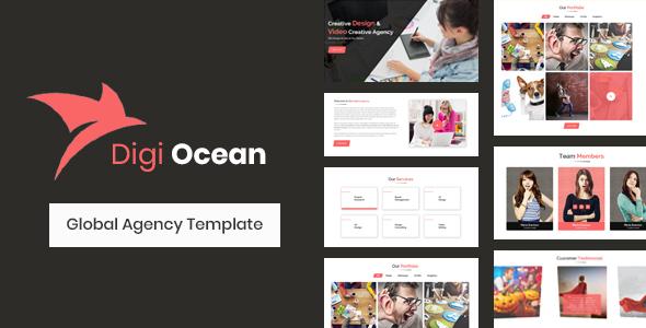 Digi Ocean - Creative Agency Template            TFx Oswin Koby