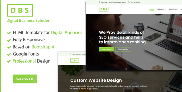 Digital Agency/SEO/Marketing HTML Template            TFx Scottie Garrick