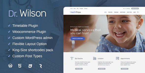 Doctor Wilson  - Medical & Health WP Theme            TFx Urban Alban