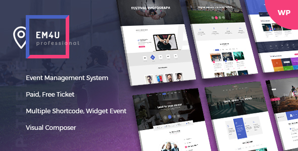 EM4U - Event Management Multipurpose WordPress Theme            TFx Kaleb Yuuma