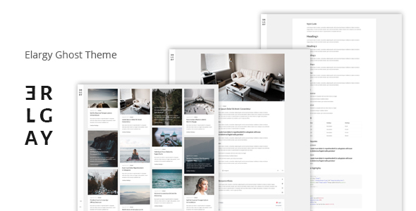 Elargy - Responsive Minimal Ghost Theme            TFx Kegan Thornton