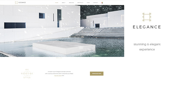 Elegance One Page – Parallax RTL Black & White Template            TFx Martial Geordie