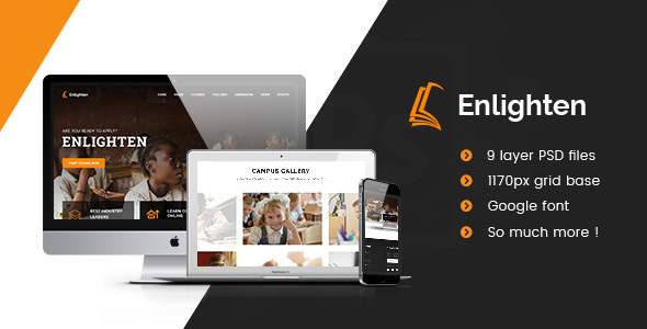 Enlighten – Education PSD Template            TFx Hilary Stanislas