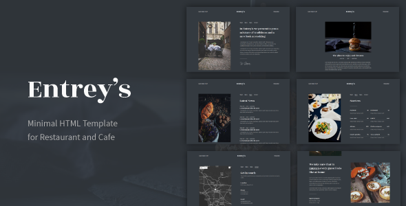 Entrey's - Minimal HTML Template for Restaurant and Cafe            TFx Shad Duane