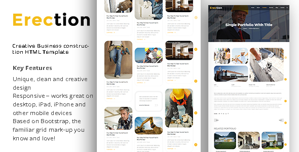 Erection – Creative Business Construction HTML Template            TFx Gorden Caiden