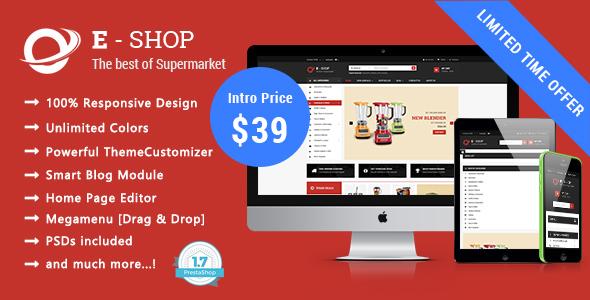 Eshop - Shopping Responsive Prestashop 1.7 Theme            TFx Syd Noburu