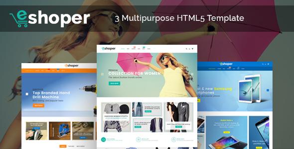 Eshoper - Responsive Multipurpose E-Commerce HTML5 Template            TFx Baldwin Derrick