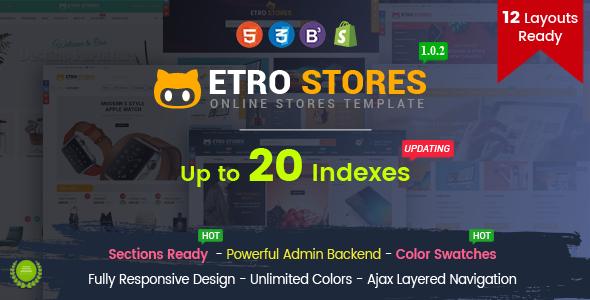 EtroStore – Responsive Multipurpose eCommerce Shopify Theme            TFx Shun Issac
