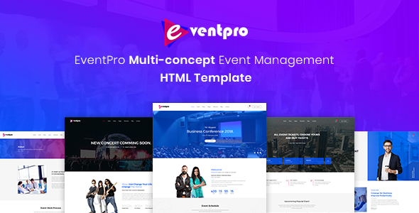 Eventpro - Events and Conference HTML Template            TFx Kameron Kevork