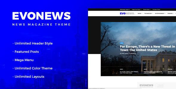 Evonews - News/Magazine WordPress Theme            TFx Conner Takahiro