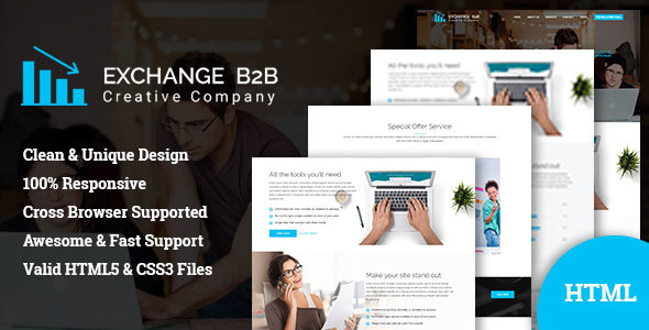 Exchange B2B || Creative Corporate Bootstrap Template            TFx Cyprian Brenden