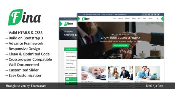 Fina || Business & Finance HTML Template            TFx Michael Clint