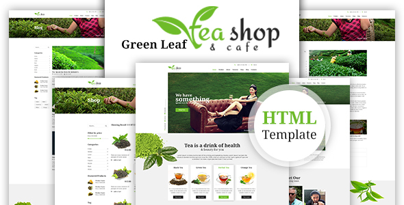 Green Leaf Tea Shop HTML Template            TFx Hagop Vortigern