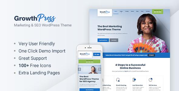 GrowthPress - Marketing and SEO WordPress Theme            TFx Arnie Aden
