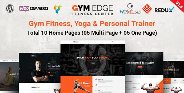Gym Edge - Gym Fitness WordPress Theme            TFx Brand Setiawan
