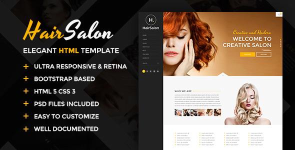 Hair Salon - Elegant HTML Template            TFx Kazuo Caleb