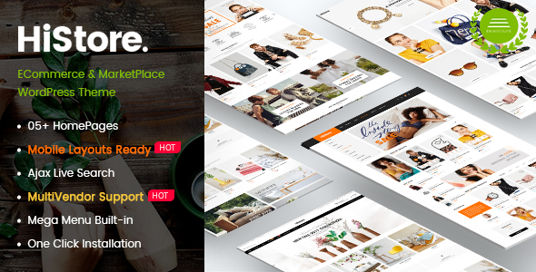 HiStore - Clean Fashion, Furniture eCommerce & MarketPlace WordPress Theme (Mobile Layouts Included)            TFx Harris Juurou