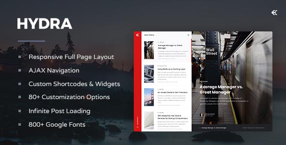 Hydra - Responsive WordPress Blog Theme            TFx Krisna Osborne