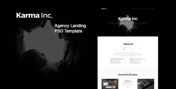 Karma Inc. Agency Landing PSD Template            TFx Gerard Cash