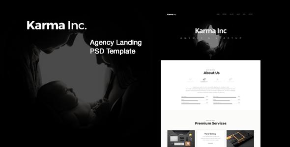 Karma Inc. Agency Landing PSD Template            TFx Flynn Shaw
