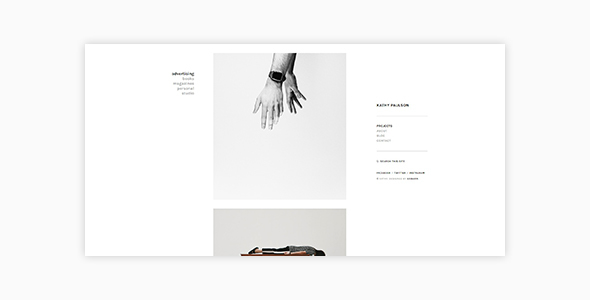 Kathy - Minimal Photography and Portfolio WordPress Theme            TFx Humbert Jessie