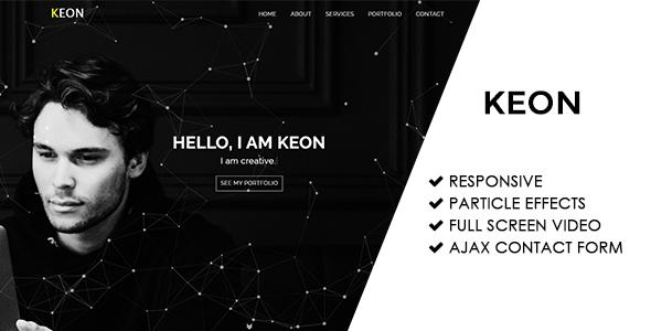 Keon | Responsive Personal Portfolio Template            TFx Gary Farran