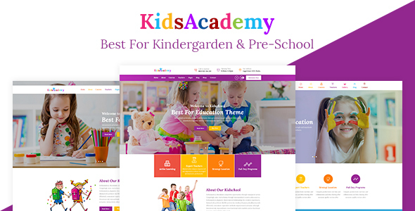KidsAcademy - Kids, Kindergarten & Preschool WordPress Theme            TFx Elwood Paschal