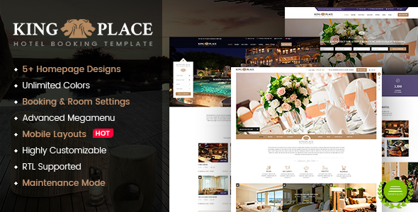 KingPlace - Luxury Hotel, Resort & Spa Booking WordPress Theme            TFx Levi Shota
