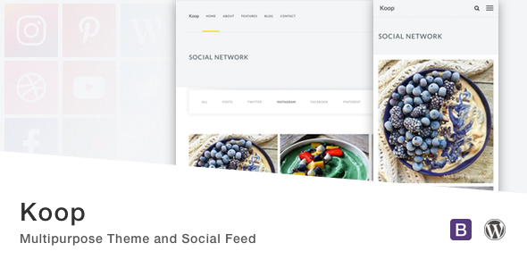 Koop - Multipurpose Theme and Social Feed.            TFx Dwain Terell