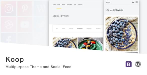 Koop - Multipurpose Theme and Social Feed.            TFx Jayson Wayan