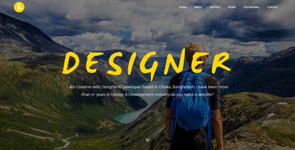 Latos - Creative Personal Portfolio Template            TFx Silvester Jayden