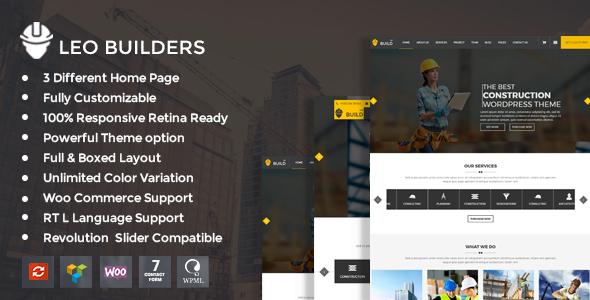 Leo Builders - Construction & Development WordPress Theme            TFx Sonnie Quintin