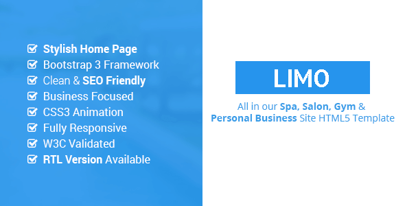 Limo - Spa and Beauty HTML5 Site Template            TFx Clarence Sage