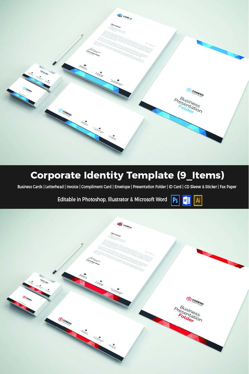 Elegant Corporate Identity Template TMT Takara Jools