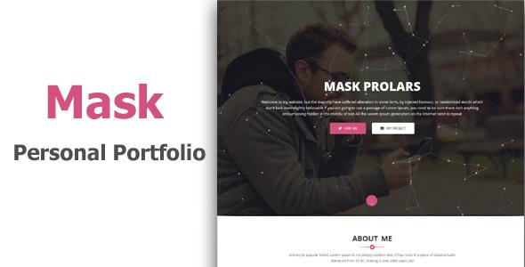Mask - Personal Portfolio & Resume Template            TFx Ezra Harlow