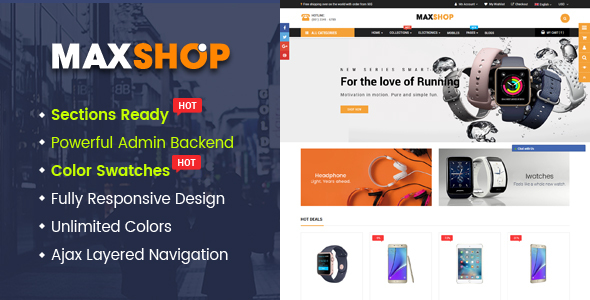 Maxshop – Advanced Multipurpose Shopify Sections Theme            TFx Todd Saburo