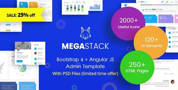 MegaStack - Bootstrap 4 & Angular JS Admin Dashboard Template and UI Framework            TFx Alexander Titus