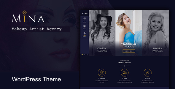 Mina - Salon & Makeup WordPress theme            TFx Kaede Miles