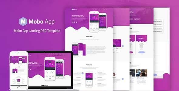 Mobo App - App Landing PSD Template            TFx Brand Dwayne
