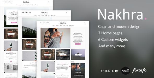 Nakhra - Modern WordPress blog theme            TFx Newt Amyas
