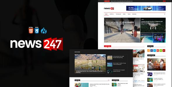 News247 - News Magazine Drupal 8 Theme            TFx Leighton Merv