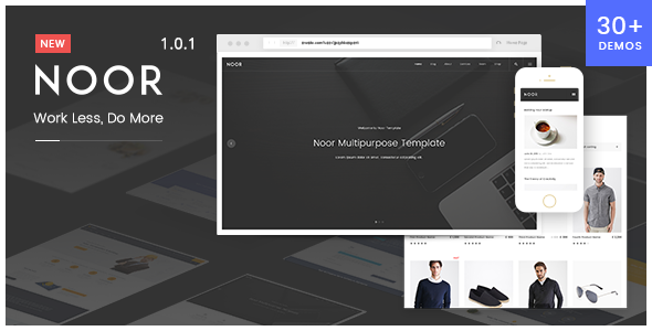 Noor | Creative Multipurpose & Fully Customizable WordPress Theme            TFx Lucian Hidayat