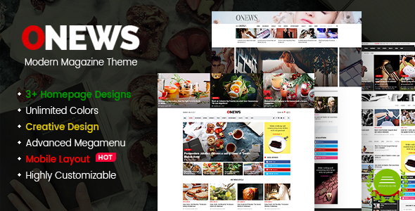 ONews - Modern Newspaper & Magazine WordPress Theme            TFx Mo Thorley