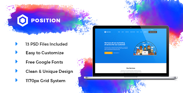POSITION -  Marketing PSD Template            TFx Mo Manny