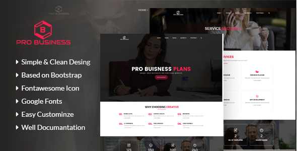 Pro Business - Business & Corporate Template            TFx Odell Patrick