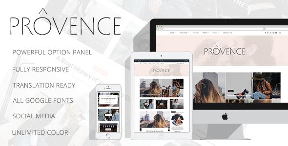 Provence - Smart Personal WordPress Blog Theme            TFx Elton Kazuki