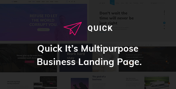 Quick - Multipurpose Business Landing Page HTML5 Template            TFx Arnold Emmerson